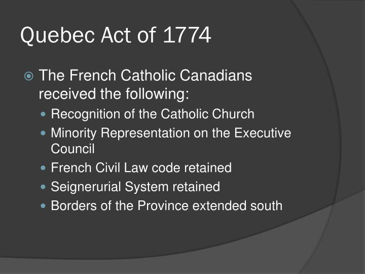 Quebec Act of 1774