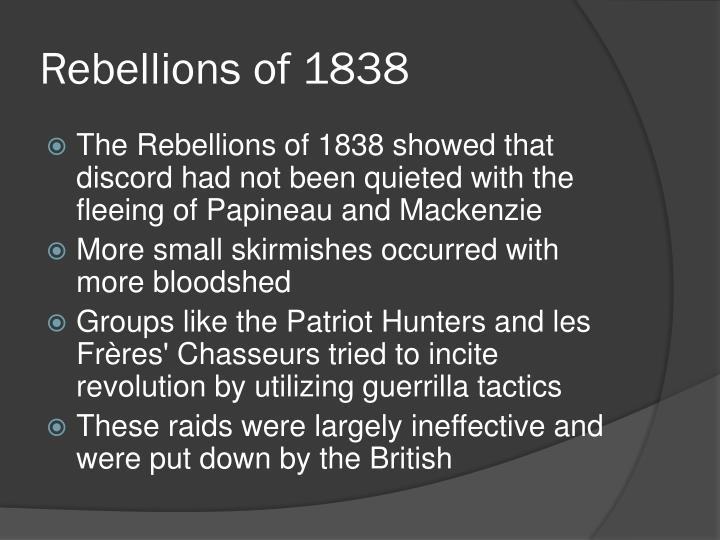 Rebellions of 1838