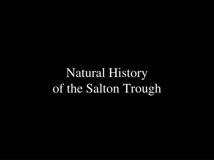 Natural history of the salton trough