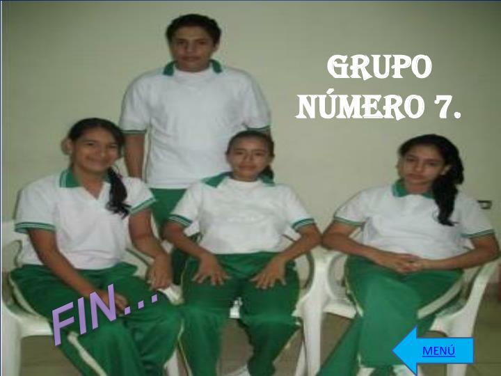 GRUPO  NÚMERO 7.
