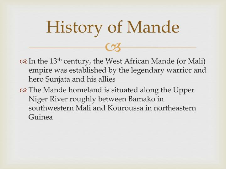 History of Mande