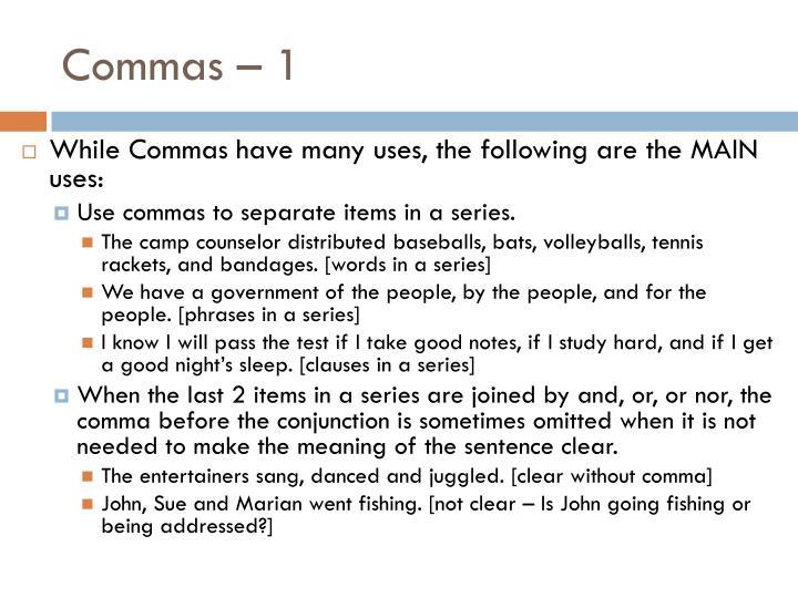 Commas – 1