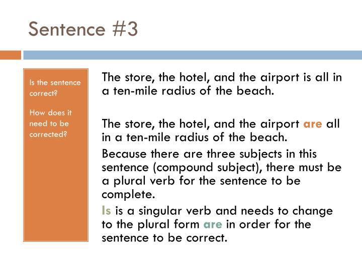 Sentence #3