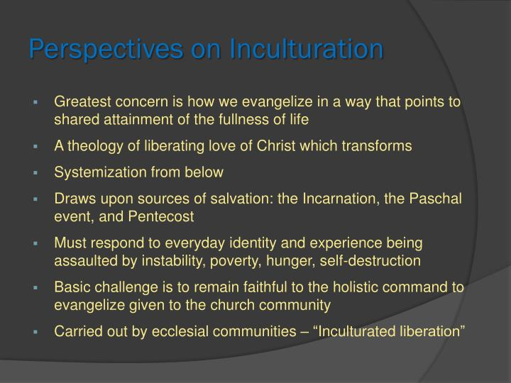 Perspectives on Inculturation