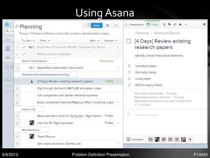 Using Asana