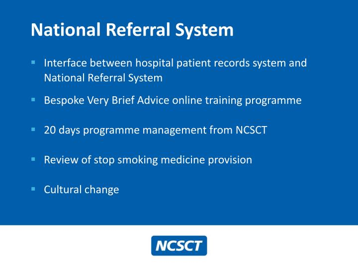 National referral system1