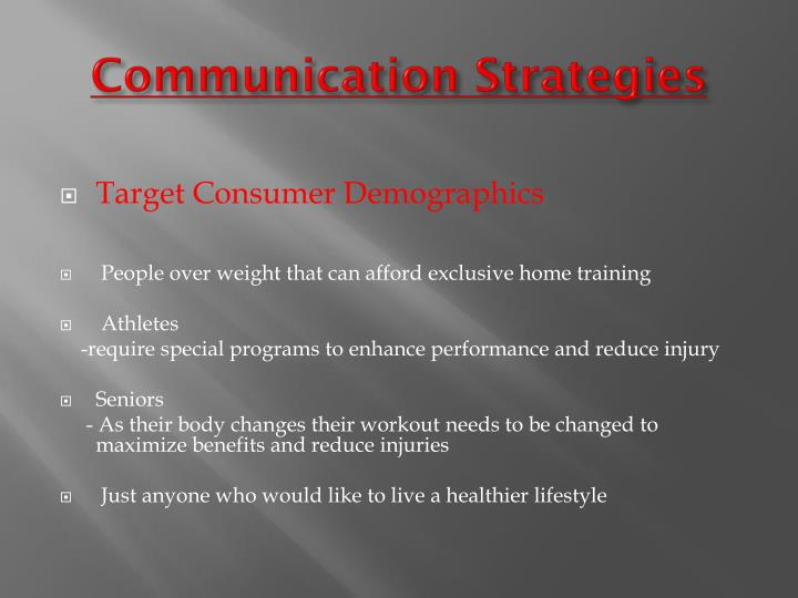 Communication Strategies