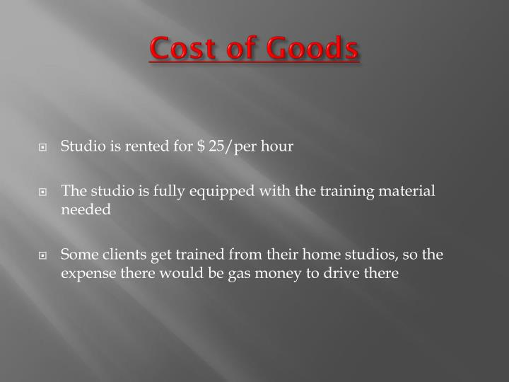 Cost of Goods