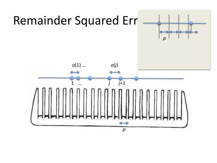 Remainder Squared Error