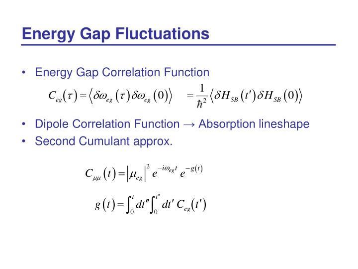 Energy Gap Fluctuations