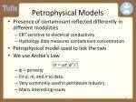 petrophysical models