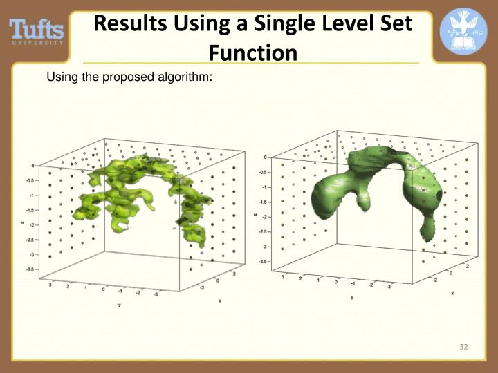 Results Using a Single Level Set Function
