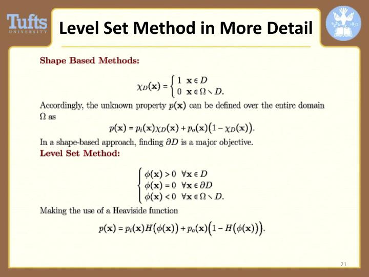 Level Set Method in More Detail