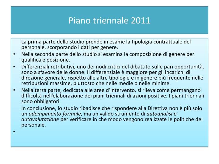 Piano triennale 2011