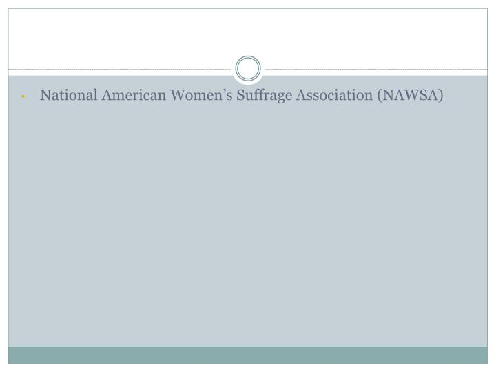 National American Women's Suffrage Association (NAWSA)