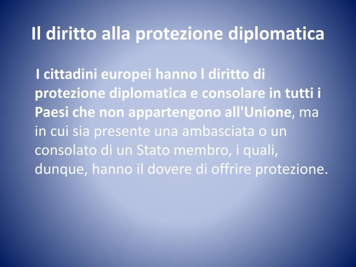 Il diritto alla protezione diplomatica