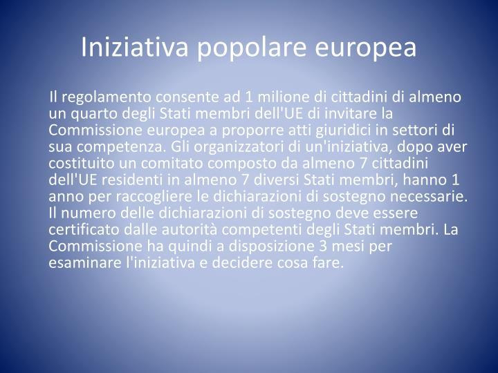 Iniziativa popolare europea
