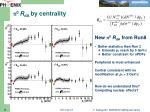 p 0 r da by centrality