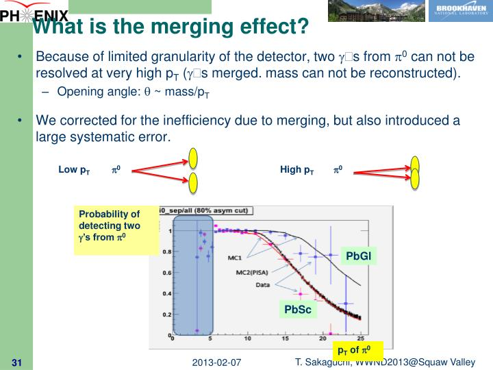 What is the merging effect?