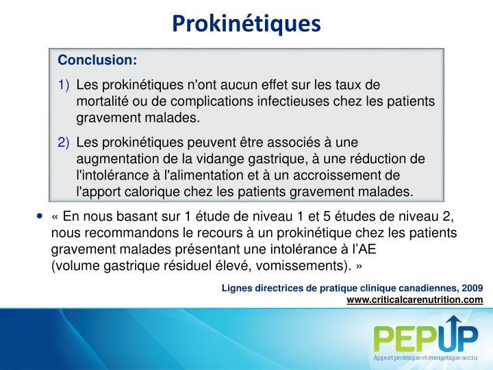 Prokinétiques