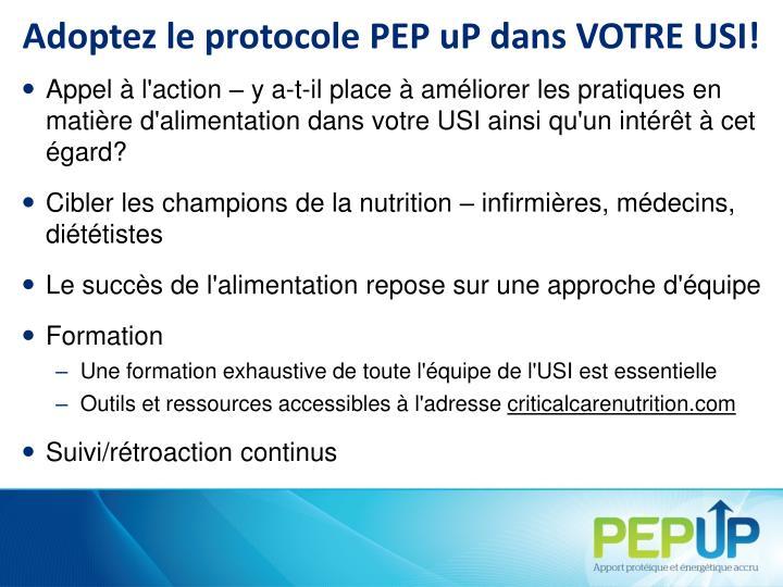 Adoptez le protocole PEP