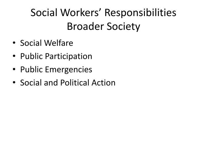 Social Workers' Responsibilities