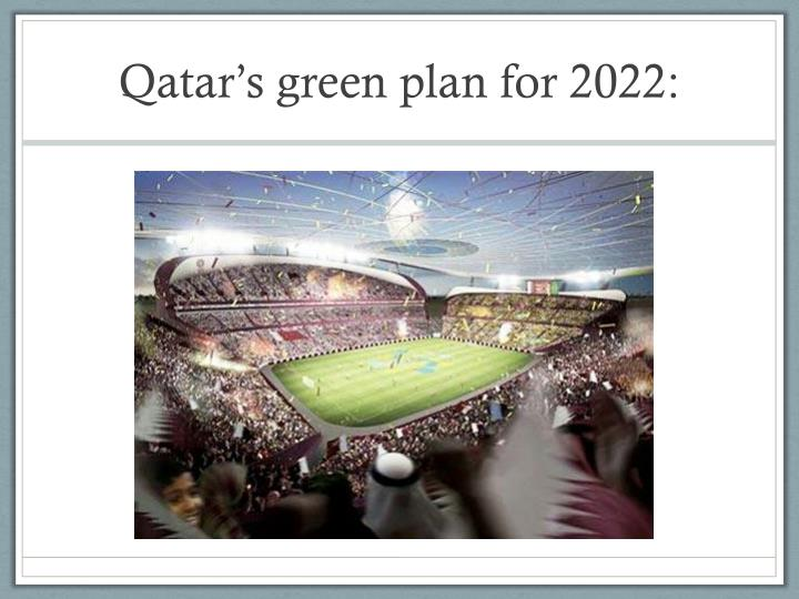 Qatar s green plan for 2022