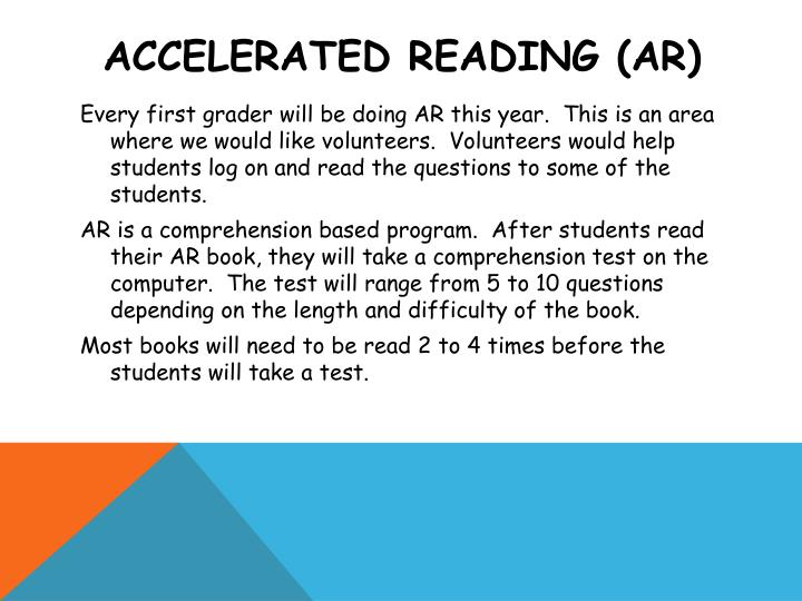 Accelerated reading (