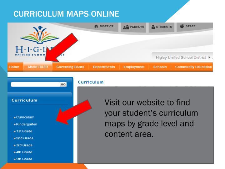 Curriculum Maps Online