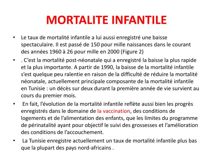 MORTALITE INFANTILE