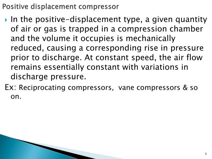 Positive displacement compressor