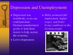 depression and unemployment