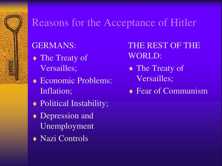 Reasons for the Acceptance of Hitler