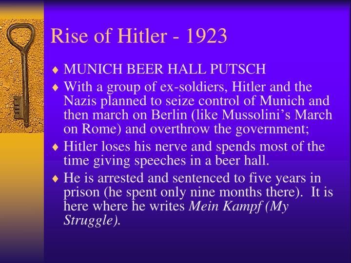 Rise of Hitler - 1923