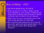 rise of hitler 1923