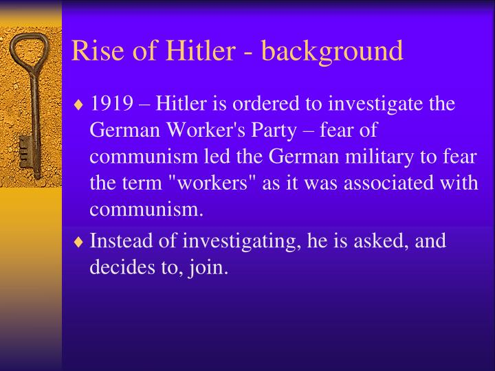 Rise of Hitler - background
