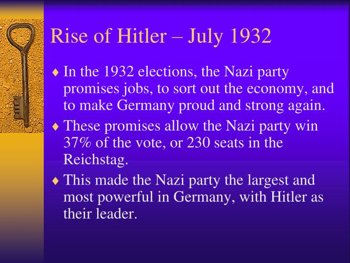Rise of Hitler – July 1932