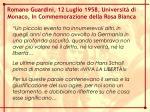 romano guardini 12 luglio 1958 universit di monaco in commemorazione della rosa bianca