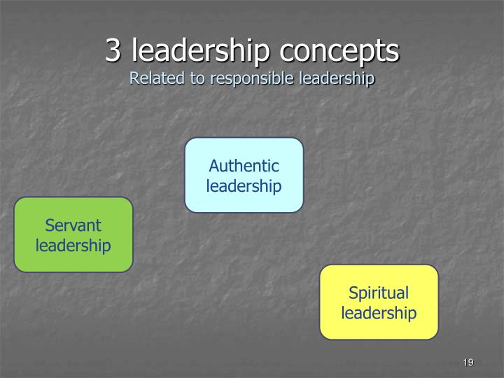 3 leadership concepts