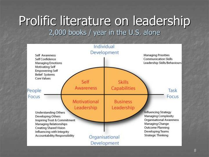 Prolific literature on leadership