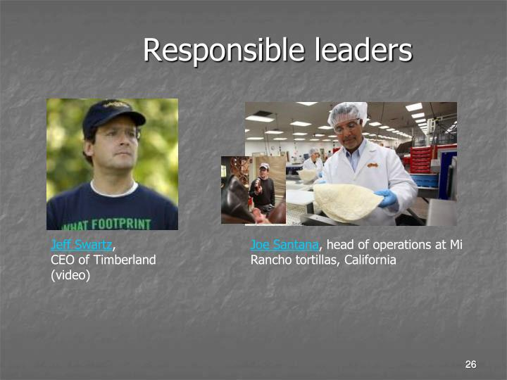Responsible leaders