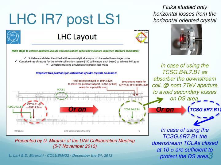 LHC IR7 post LS1