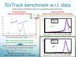 sixtrack benchmark w r t data