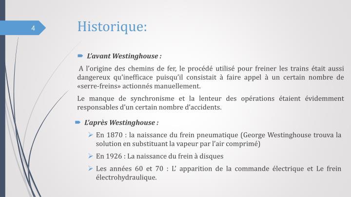 Historique: