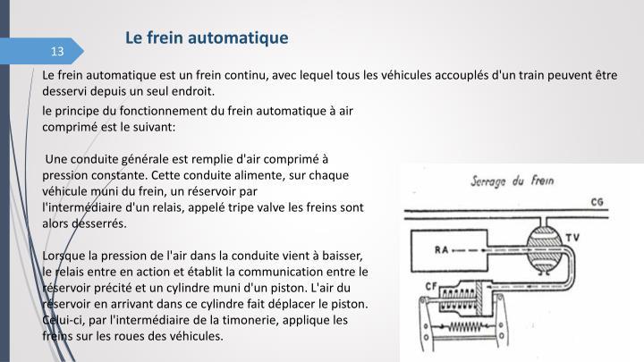 Le frein automatique