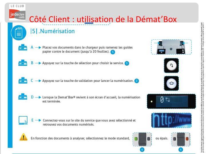 Côté Client : utilisation de la Démat'Box