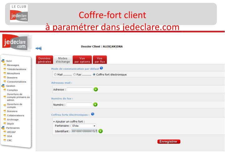 Coffre-fort client