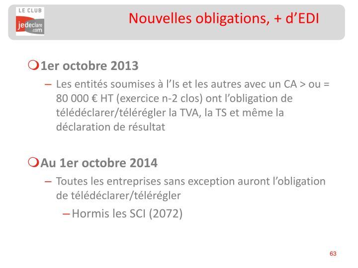 Nouvelles obligations, + d'EDI