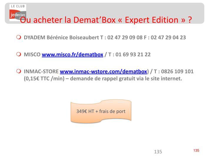 Ou acheter la Demat'Box «Expert Edition» ?