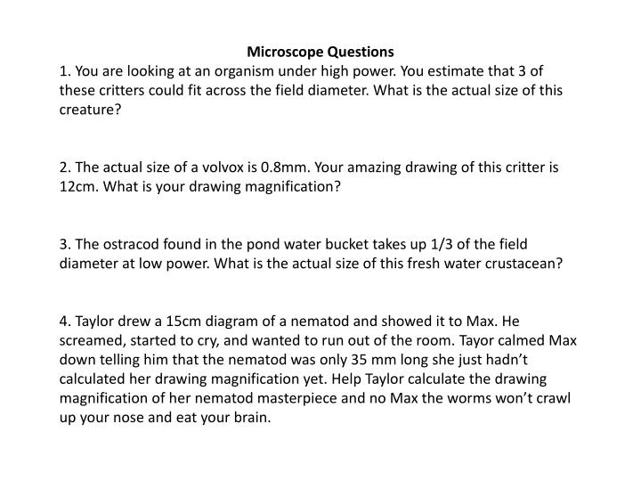 Microscope Questions